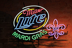French Quarter - Vieux Carr (Flagman00) Tags: street light art colors sign lite neon neworleans miller frenchquarter bud fleurdelis mardigras bourbon thequarter vieuxcarr fluerdelis lanouvelleorlans