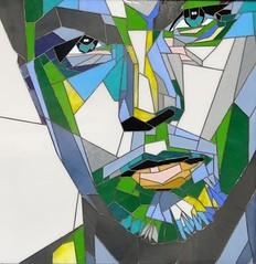 Stained Glass Portrait of Leonardo DiCaprio. Pop Art (blashchukartstudio) Tags: stainedglass popart leonardodicaprio