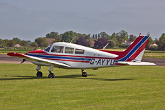 G-AYYU Beech C33 Musketeer D M Powell Sturgate  EGCS Fly-In 05-06-16 (PlanecrazyUK) Tags: sturgate egcs fly in 050616 lincoln aero club ltd gayyu beechc33musketeer dmpowell flyin