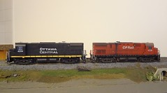 C424 CP/OC (Larry the Lens) Tags: cn modeltrain canadianpacific cp oc 424 canadiannational alco hoscale mlw ottawacentral c424