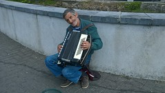 Busker. (mcginley2012) Tags: busker accordion musician galway ireland street candid person lumia650 cameraphone