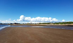 Troon south beach (cmax211) Tags: sea sky clouds scotland sand south troon ayrshire