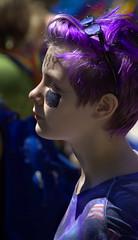 Purple Hair (swong95765) Tags: hair purple bokeh crowd parade lgbt gender
