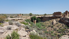 Hovenweep House, Square Tower, and Hovenweep Castle at the end of the canyon