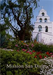 postcard - San Diego Mission 6 (Jassy-50) Tags: california church sandiego postcard spanishmission missionsandiego californiamission
