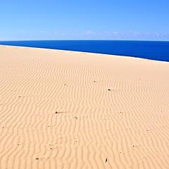 Coastal minimalism (~Vision ~A i r y ~) Tags: ocean blue sea beach nature coast photo rainbow sand natural image wind patterns australia views queensland carlo cooloola sandblow visionairy