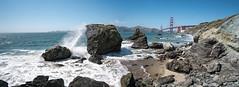 Golden Gate Panorama (tobias.koeltzsch) Tags: ocean sanfrancisco california bridge panorama usa beach rocks goldengatebridge sanfranciscobay