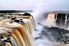 Milky falls (legalluce) Tags: brazil nature water river outside outdoors waterfall scenery long exposure iguazu