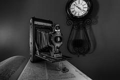 Kodak Jr  No. 1A Autographic (Terry L Richmond) Tags: camera longexposure bw clock monochrome field vintage blackwhite kodak antique depth folding lense canon1740 canon6d