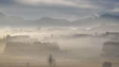 Bavarian countryside (ccr_358) Tags: morning winter light panorama mist fog clouds germany landscape bayern deutschland bavaria countryside scenery view postcard inverno germania cartolina baviera 2016 swabia christmasholidays ostallgu hopferau ccr358