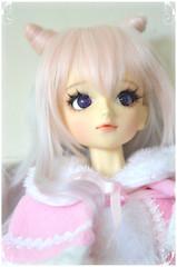 purikura border (momori) Tags: pink cute girl angel ball doll dream super sd kawaii bjd dollfie volks abjd od gyaru jointed aod