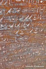 Hieroglyphs from sarcophagus of Hatshepsut (konde) Tags: eyes ancient tomb goddess sarcophagus isis 18thdynasty hieroglyphs valleyofthekings hatshepsut deities wadjet kv20 newkingdom sarkofagi