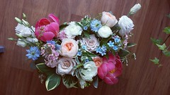 bridal bouquet 04 (Flower 597) Tags: centerpiece corsage weddingflowers weddingceremony boutonniere bridalbouquet weddingbouquet weddingflower floralcrown weddingflorist ceremonyarch flower597 torontoweddingflorist