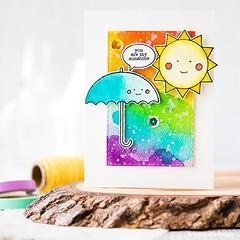 Rainbow Card Challenge (limedoodle) Tags: simon stamp says