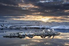 Sunset at Jkulsrln. (Jakub Hrdina) Tags: jkulsrln glaciallake iceberg iceland sunset sunrise