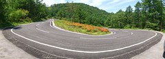 Winding road (20EURO) Tags: road blue panorama green beautiful mobile forest photograph winding curve hillclimb 20euro panoramicshot mountaincourse xperiaz3 sonyso01f