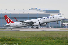 TC-JTK - 2016 build Airbus A321-231, departing from Runway 05L at Manchester (egcc) Tags: man manchester airbus thy tk lightroom a321 ringway staralliance egcc 7146 turkishairlines a321231 grele tcjtk