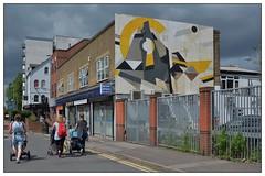 Street Art, London (junepurkiss) Tags: streetart london walthamstow recycledwood artfromwood