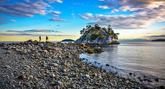 Photographer's Paradise (Images by Christie  Happy Clicks for 2016!) Tags: ocean park sunset wallpaper sky seascape canada beach clouds seaside nikon rocks bc view dusk tripod scenic photographers boulder westvancouver d5200