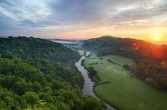 Symonds Yat Rock. Gloucestershire, England (Ed.Moskalenko) Tags: morning england sunrise landscape unitedkingdom gloucestershire valley yat symonds wye aonb