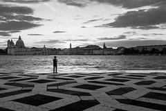 Venezia - 2016 (Enzo D.) Tags: biancoenero blackandwhite puntadelladogana 2016 giudecca italia italy laguna olympus skyline venezia venice view wwwenzodemartinocom veneto it