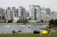 Vancouver Jelly Beans (Stabbur's Master) Tags: canada skyline vancouver yaletown falsecreek publicart condos jellybeans vancouverbc urbanpark outdoorsculpture charlesonpark vancouvercanada vancouverseawall cosimocavallaro charlesonparkseawall