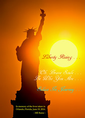 Brothers & Sisters of The Orlando Massacre . . . May You Find Peace in Your New Journey (takegoro) Tags: gay orange sun love silhouette june yellow statue sunrise lesbian liberty hope freedom orlando memorial peace symbol florida massacre attack transgender american lgbt terrorism tribute bisexual statueofliberty prayers victims 2016 killings