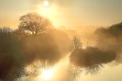 Cornish Mist (midlander1231) Tags: cornwall godolphinwoods godolphinhouse godolphin westcornwall mist sunrise lake water sky nature