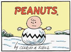 Charlie Brown Snowman (Tom Simpson) Tags: winter snow illustration vintage comics snowman peanuts 1950s charliebrown charlesschulz 1953 charlesmschulz newspapercomics