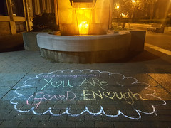 You are good enough (Exile on Ontario St) Tags: water fountain promotion writing chalk eau nightshot montral montreal ground motivation positive oldmontreal soir fontaine nuit craie cours cour confidence vieuxmontral writings uplifting goodenough positivity positif royer leroyer instagram coursleroyer