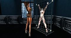 002 (djolyx) Tags: sexy fetish noir bdsm piercing sl secondlife rack plug mistress kinky slave sheer