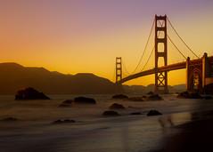 Golden Gate Bridge viewed from Marshall Beach (arno gourdol) Tags: sanfrancisco california bridge sunset long goldengate