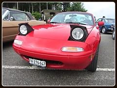 Mazda MX-5 (v8dub) Tags: auto old classic car japanese schweiz switzerland automobile suisse 5 automotive voiture oldtimer oldcar mazda miata mx dt collector roadster youngtimer wagen pkw klassik romont worldcars vuisternens