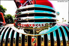 Shinny Chevrolet Grille (Pentax K-x Connecticut Man) Tags: 125sex 100iso 1940s beautiful car carshow chevrolet chrome classiccarshow connecticut dslr event flickr grille iso100 justpentax kitlens macro meridenct paddockavenue pentax pentaxkx red rare shine summer sunnyday tripod truck f14 boarder pentaxart