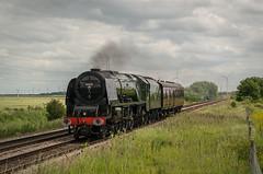 46233 - 5Z34 - Stanground - 27.06.2016(1) (Tom Watson 70013) Tags: steam train locomotive peterborough railway 46233 duchess sutherland stanground 5z34