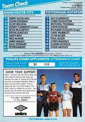 Manchester City vs Tottenham Hotspur - 1987 - Back Cover Page (The Sky Strikers) Tags: road city magazine manchester spurs one maine match division today league tottenham the hotspur 60p