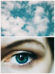 5/365 just look at the sky (marievolkova) Tags: blue portrait sky selfportrait macro eye me girl beauty clouds project 50mm eyes nikon close getty 365 nikkor 500px