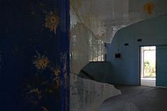 laggi - it's down there (francesco melchionda) Tags: blue abandoned glass colors doors decay urbanexploration decadence urbex cetinje