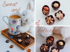 Sweet cholotate candies and white toy rabbit (ddanilejko) Tags: light food white cute rabbit bunny cup vertical relax dessert toy four cozy healthy colorful soft candy bright tea sweet coconut decorative fluffy naturallight delicious whitebackground peanut taste truffle pleasure cosi whitechocolate softtoy confection chocolatemousse useful vitamin crmebrle groundnut deliciousfood pindar cosiness woodentray littlecandy sweetfood blackchocolate limetea tastefood confectionerypowder