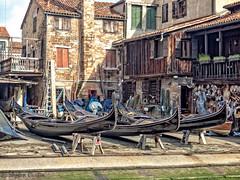 Gondola Workshop (stephencurtin) Tags: venice workshop repair gondolas