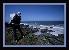 Bill at Pigeon Point (Mrs. Terry) Tags: copyrightbyteresamforrest pacific coast photographerfriend photosbyterry pigeonpoint billtaylor 20022004 171060802billatpigeonptwframe