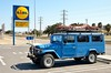 Time for shopping at the Lidl in the Ebro Delta [Spain] (babakotoeu) Tags: car jeep offroad 4x4 toyota land series 40 landcruiser cruiser troopy bj40 40series bj45