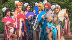 20160702-20160702-_MG_9472-Edit.jpg (Josephlh1976) Tags: animeexpo cosplay ladies women group photo cosplaying kawaii colorful color fans traditional clothing inspired