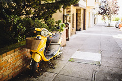 Moped [04.01.13] (Andrew H Wagner | AHWagner Photo) Tags: sf sanfrancisco california ca city 35mm canon eos pretty dof bokeh f14 scenic norcal moped westcoast sideway 35l f14l 5dmkiii 5dmk3 5d3 5dmarkiii 5dmark3