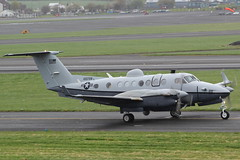 100728 Beechcraft MC12W USAF (GSairpics) Tags: scotland king aircraft military air aeroplane 350 beechcraft usaf beech mil prestwick pik div diversion ayrshire kingair mildenhall egpk beech350 100728 mc12w fl728