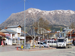 Gombe, Antalya Region, Turkey (east med wanderer) Tags: snow mountains turkey town turkiye gombe turchia turkei taurusmountains antalyaregion