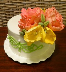 Mother's Day Peony and tulip flower cake (Valentina of Valentina's Cake Design) Tags: spring day mothers gumpaste gumpasteflower