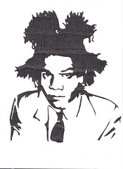 Basquiat by Xavier Ride (Xavier Ride) Tags: pochoir elementstyle xavierride peausynthetique