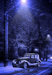Baby It's Cold Outside (Kris Kros) Tags: seattle winter light snow classic car photoshop vintage painting photography washington with antique paintingwithlight kris hdr kkg facebook photomatix kros kriskros kkgallery img1457tonemapped lasiklasik