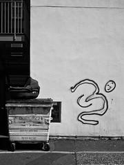 Abandoned (ChrisJohnston82) Tags: street uk blackandwhite bw abandoned monochrome trash pen four graffiti mono scotland blackwhite bucket edinburgh streetphotography mini olympus bin micro crib unwanted pram thirds tollcross streetpic microfourthirds epm1 olympuspenminiepm1